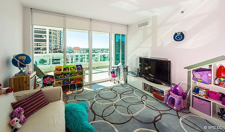 Family Room inside Residence 803 at Las Olas Beach Club, Luxury Oceanfront Condos in Fort Lauderdale, Florida 33316.