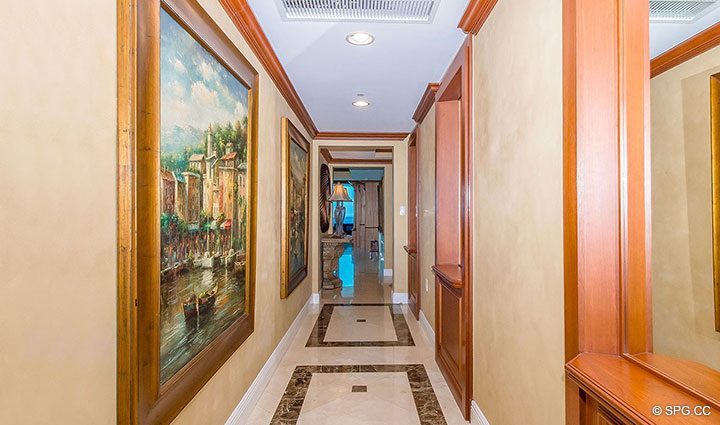 Hallway in Residence 1204 For Sale at Aquazul, Luxury Oceanfront Condominiums Lauderdale by the Sea, Florida 33062