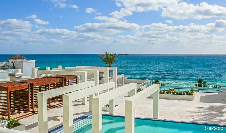 Beautiful Terrace Views from Residence 803 at Las Olas Beach Club, Luxury Oceanfront Condos in Fort Lauderdale, Florida 33316.
