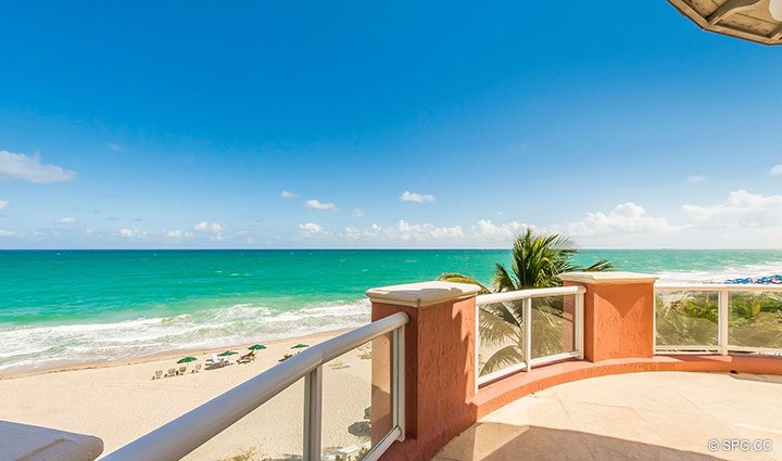 Master Terrace for Oceanfront Villa 7 at The Palms, Luxury Oceanfront Condominiums Fort Lauderdale, Florida 33305