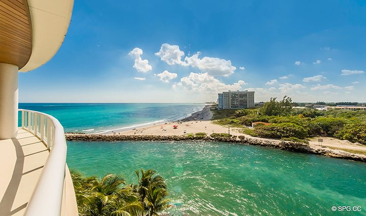 Spectacular Views from Residence 501 For Sale at 1000 Ocean, Luxury Oceanfront Condos in Boca Raton, Florida 33432.