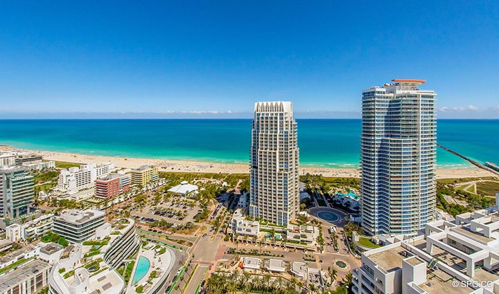 Eastern Ocean Views from Residence 3806 at Portofino Tower, Luxury Waterfront Condominiums in Miami Beach, Florida 33139