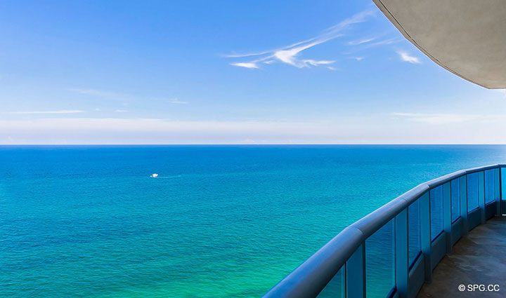 Superb Ocean Views from Residence 1204 For Sale at Aquazul, Luxury Oceanfront Condominiums Lauderdale by the Sea, Florida 33062