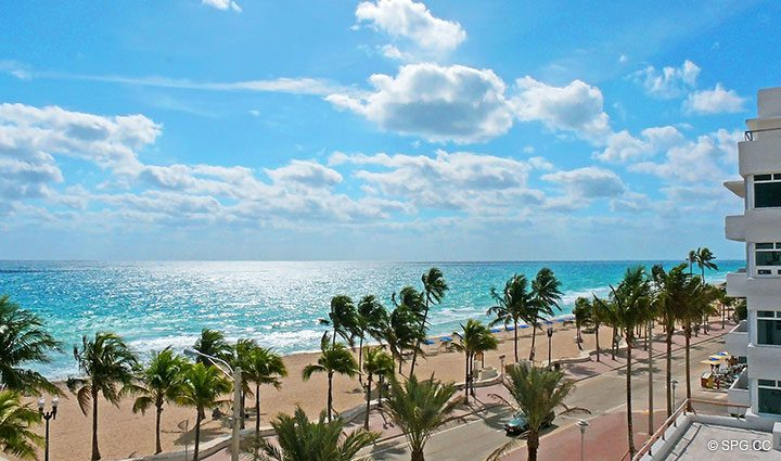 Gorgeous Beach Views from Residence 803 at Las Olas Beach Club, Luxury Oceanfront Condos in Fort Lauderdale, Florida 33316.