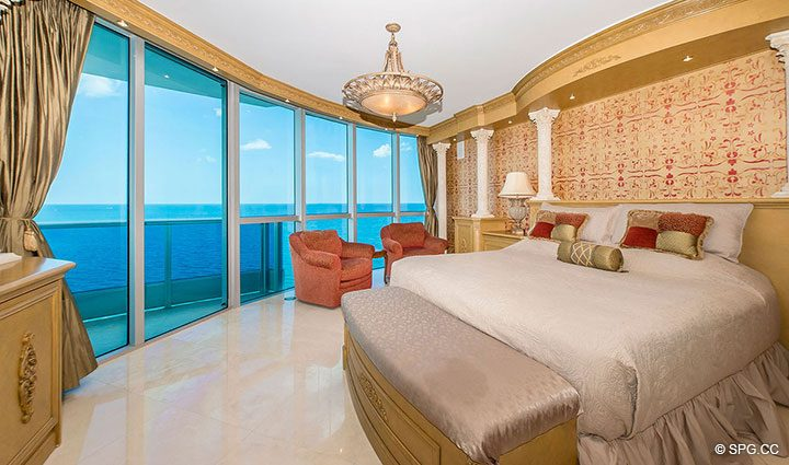 Master Bedroom in Residence 1204 For Sale at Aquazul, Luxury Oceanfront Condominiums Lauderdale by the Sea, Florida 33062
