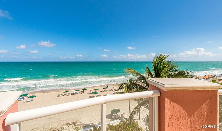 Gorgeous Direct Ocean Views from Oceanfront Villa 7 at The Palms, Luxury Oceanfront Condominiums Fort Lauderdale, Florida 33305