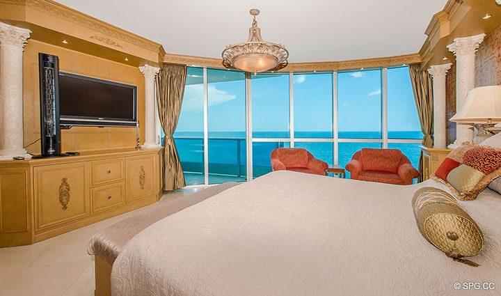 Master Suite with Terrace in Residence 1204 For Sale at Aquazul, Luxury Oceanfront Condominiums Lauderdale by the Sea, Florida 33062