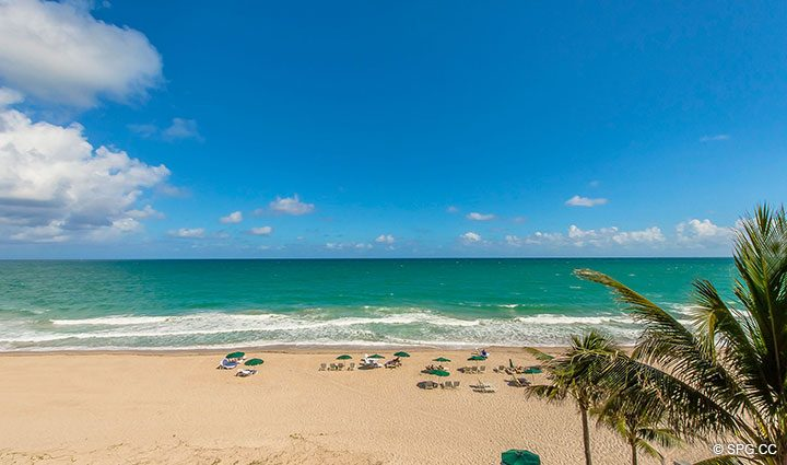 Unobstructed Beach Views from Oceanfront Villa 7 at The Palms, Luxury Oceanfront Condominiums Fort Lauderdale, Florida 33305