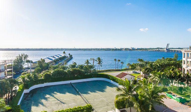 Beautiful Intracoastal Views from Penthouse 7 at Bellaria, Luxury Oceanfront Condominiums in Palm Beach, Florida 33480.