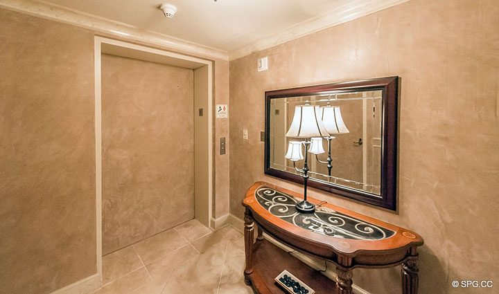 Private Elevator Landing for Residence 6A, Tower II For Sale at The Palms, Luxury Oceanfront Condominiums Fort Lauderdale, Florida 33305