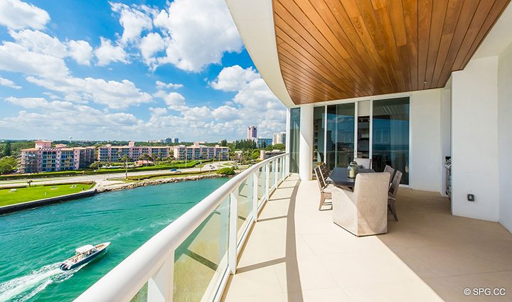 Gorgeous Views from Residence 501 For Sale at 1000 Ocean, Luxury Oceanfront Condos in Boca Raton, Florida 33432.
