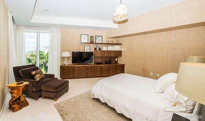 Guest Bedroom in Residence 501 For Sale at 1000 Ocean, Luxury Oceanfront Condos in Boca Raton, Florida 33432.