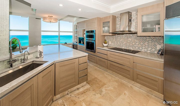 Superb Gourmet Kitchen in Residence 12B, Tower I at The Palms, Luxury Oceanfront Condominiums Fort Lauderdale, Florida 33305
