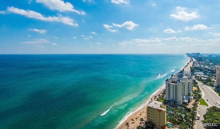 Unobstructed Views of the Ocean and Beach from Grand Penthouse 30A, Tower II at The Palms, Luxury Oceanfront Condos in Fort Lauderdale, South Florida 33305