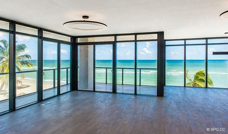 Floor to Ceiling Glass in Residence 4B at Sage Beach, Luxury Oceanfront Condominiums in Hollywood, Florida 33019
