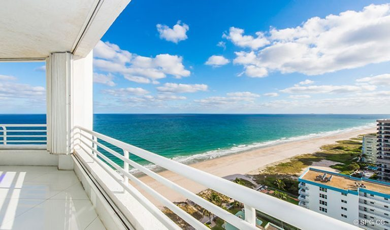 Spectacular Views from Residence 18D at Cristelle, Luxury Oceanfront Condominiums in Lauderdale by the Sea, Florida 33062.