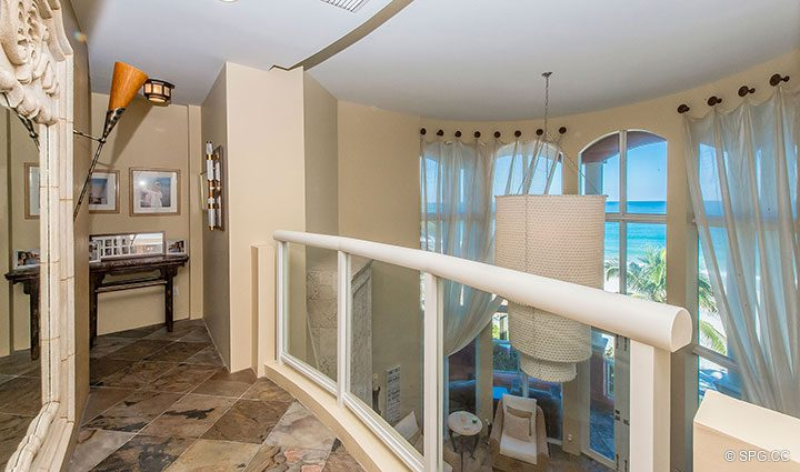 3rd Floor Balcony in Oceanfront Villa 1 at The Palms, Luxury Oceanfront Condominiums Fort Lauderdale, Florida 33305