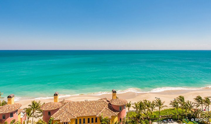 Stunning Ocean Views from Residence 12B, Tower I at The Palms, Luxury Oceanfront Condominiums Fort Lauderdale, Florida 33305