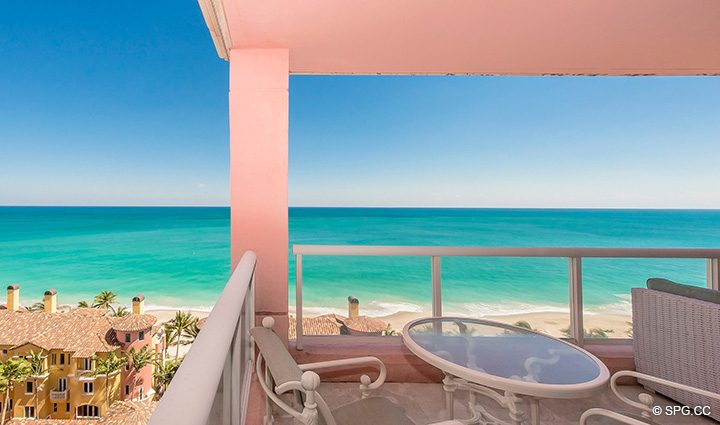 Private Oceanside Terrace for Residence 12B, Tower I at The Palms, Luxury Oceanfront Condominiums Fort Lauderdale, Florida 33305