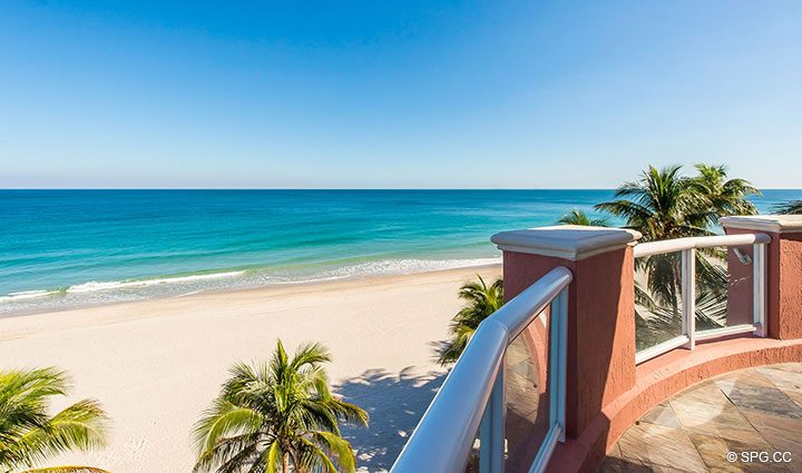 Superb Ocean Views from Oceanfront Villa 1 at The Palms, Luxury Oceanfront Condominiums Fort Lauderdale, Florida 33305