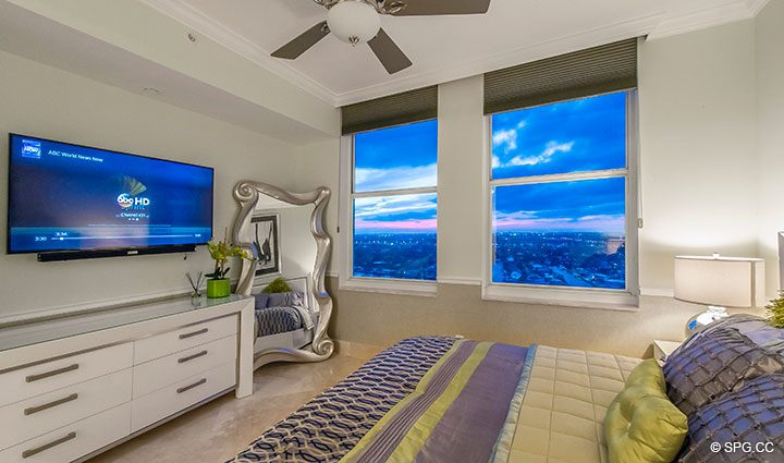 Guest Room inside Penthouse Residence 26A, Tower I at The Palms, Luxury Oceanfront Condos in Fort Lauderdale, Florida 33305.