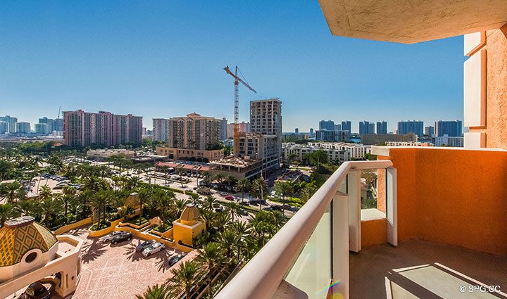 Private Terrace for Residence 1106 at Acqualina, Luxury Oceanfront Condominiums in Sunny Isles Beach, Florida 33160
