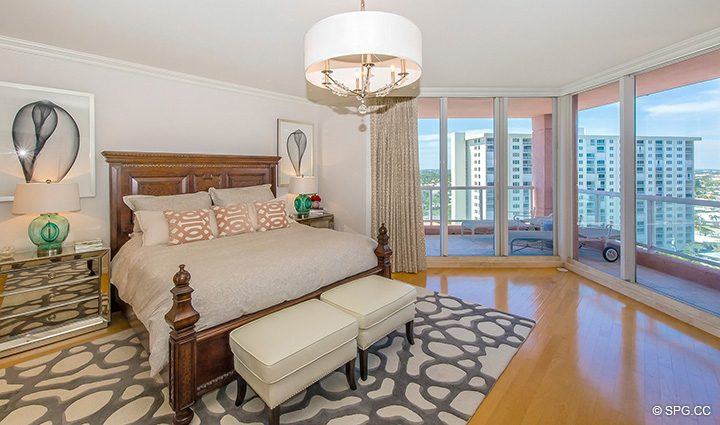 Master Bedroom in Residence 12B, Tower I at The Palms, Luxury Oceanfront Condominiums Fort Lauderdale, Florida 33305