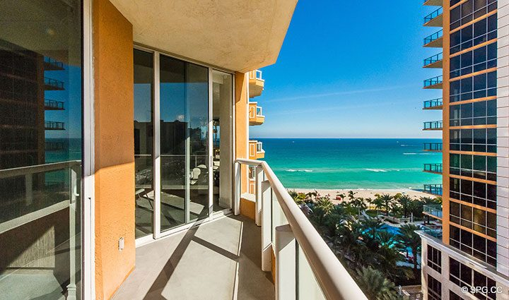 Ocean Views from Second Terrace at Residence 1106 at Acqualina, Luxury Oceanfront Condominiums in Sunny Isles Beach, Florida 33160