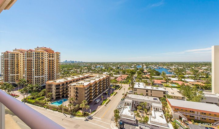 Master Terrace Views from Residence 12B, Tower I at The Palms, Luxury Oceanfront Condominiums Fort Lauderdale, Florida 33305