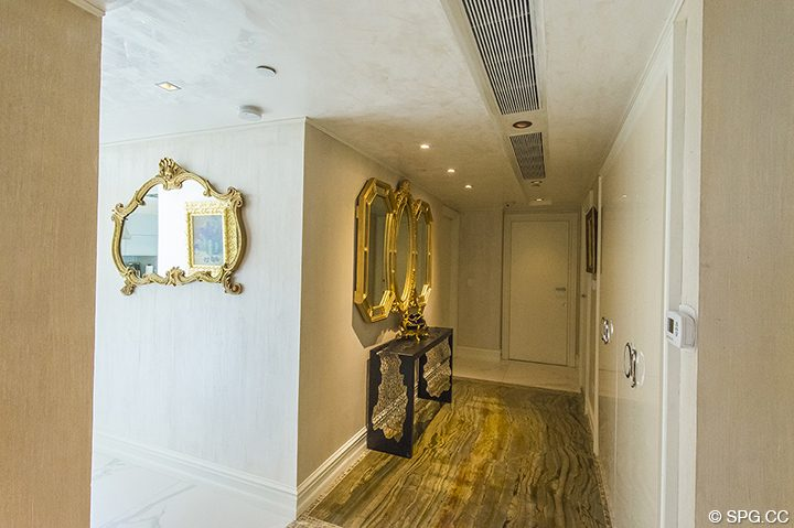 Private Elevator Landing for Residence 1106 at Acqualina, Luxury Oceanfront Condominiums in Sunny Isles Beach, Florida 33160
