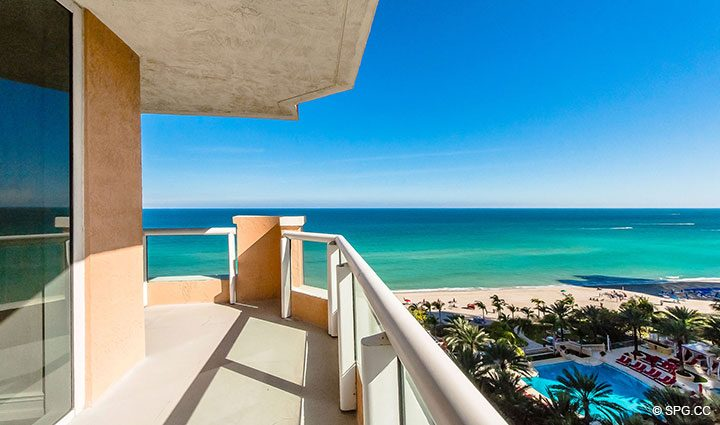 Large Spacious Terrace Space for Residence 1106 at Acqualina, Luxury Oceanfront Condominiums in Sunny Isles Beach, Florida 33160