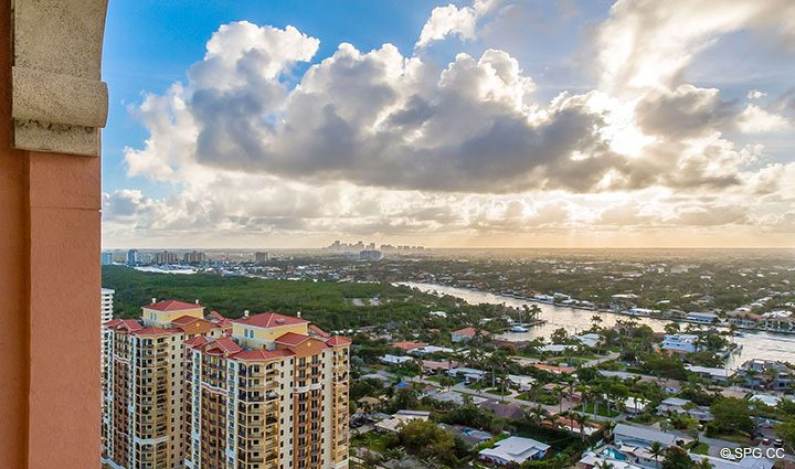 Gorgeous Downtown Views from Penthouse Residence 26A, Tower I at The Palms, Luxury Oceanfront Condos in Fort Lauderdale, Florida 33305.