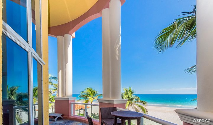 Second Floor Terrace for Oceanfront Villa 1 at The Palms, Luxury Oceanfront Condominiums Fort Lauderdale, Florida 33305