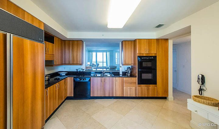 Kitchen in Residence 10D, Tower II at The Palms, Luxury Oceanfront Condominiums Fort Lauderdale, Florida 33305