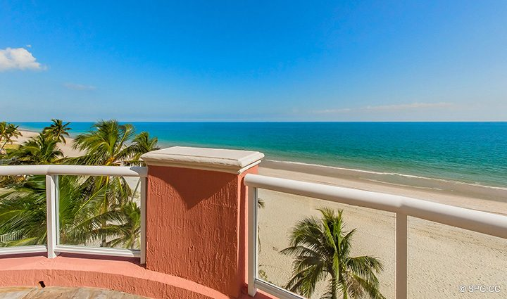 Fourth Floor Terrace for Oceanfront Villa 1 at The Palms, Luxury Oceanfront Condominiums Fort Lauderdale, Florida 33305
