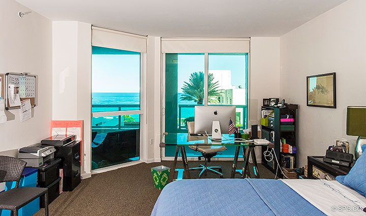 Bedroom Terrace Access in Residence 803 at Las Olas Beach Club, Luxury Oceanfront Condos in Fort Lauderdale, Florida 33316.