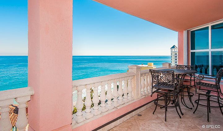 Oceanside Terrace for Residence 11B, Tower I at The Palms, Luxury Oceanfront Condominiums Fort Lauderdale, Florida 33305
