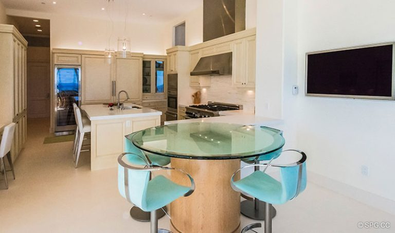 Gourmet Kitchen in Penthouse 7 at Bellaria, Luxury Oceanfront Condominiums in Palm Beach, Florida 33480.