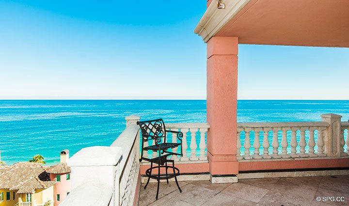 Large Terrace Space for Residence 11B, Tower I at The Palms, Luxury Oceanfront Condominiums Fort Lauderdale, Florida 33305
