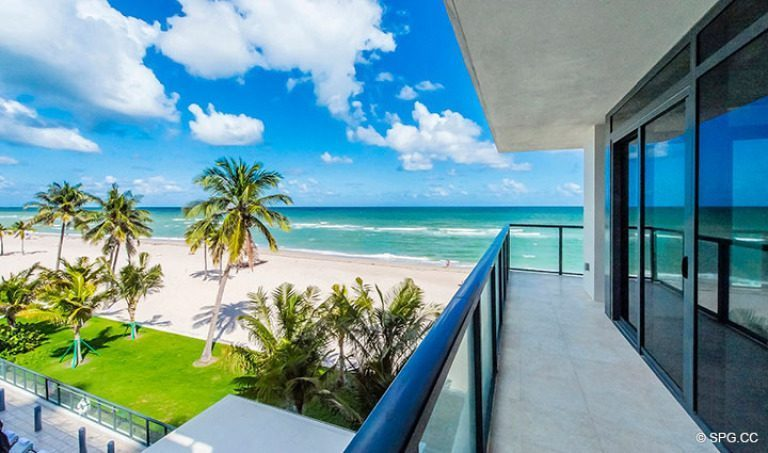 Spacious Private Terrace for Residence 4B at Sage Beach, Luxury Oceanfront Condominiums in Hollywood, Florida 33019