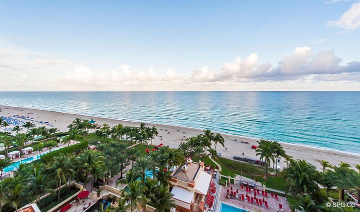 Direct Ocean Views from Residence 1106 at Acqualina, Luxury Oceanfront Condominiums in Sunny Isles Beach, Florida 33160