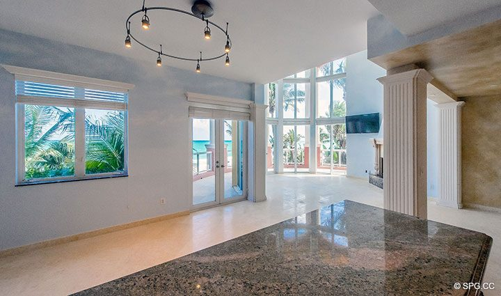 Open Floorplan Design in Oceanfront Villa 7 at The Palms, Luxury Oceanfront Condominiums Fort Lauderdale, Florida 33305