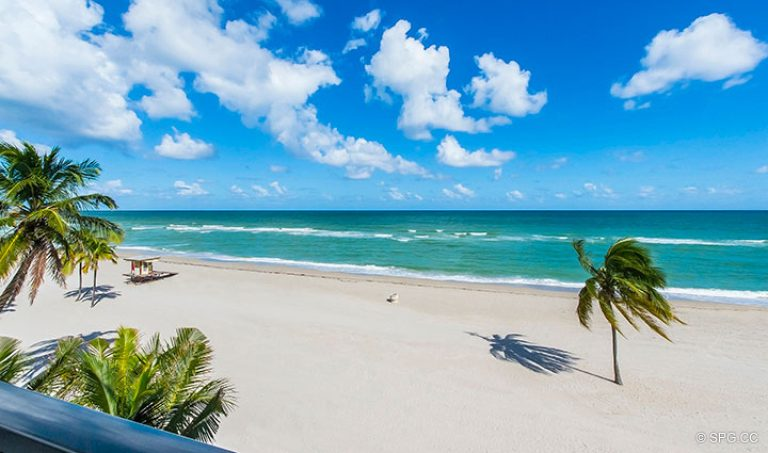 Ocean Views from Residence 4B at Sage Beach, Luxury Oceanfront Condominiums in Hollywood, Florida 33019