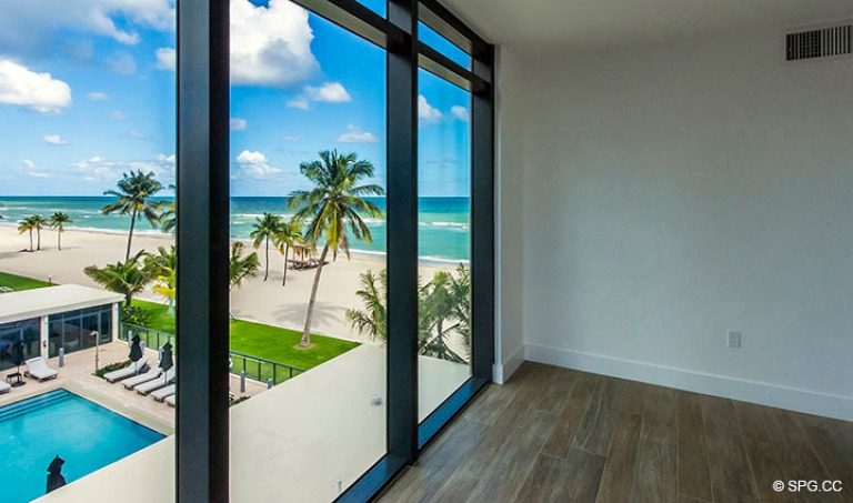 Beautiful Bedroom Views from Residence 4B at Sage Beach, Luxury Oceanfront Condominiums in Hollywood, Florida 33019