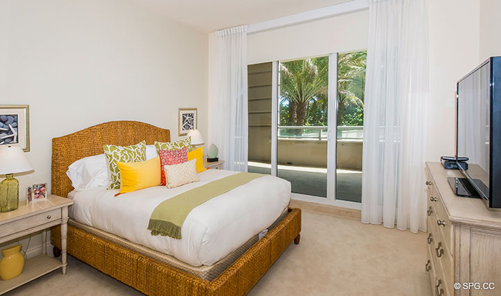 Guest Room inside Residence 204 at Bellaria, Luxury Oceanfront Condominiums in Palm Beach, Florida 33480.