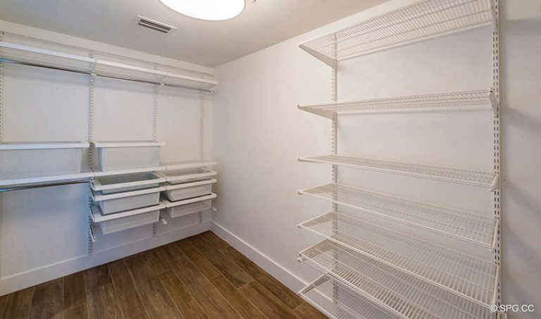 Spacious Walk-In Closet in Residence 4B at Sage Beach, Luxury Oceanfront Condominiums in Hollywood, Florida 33019