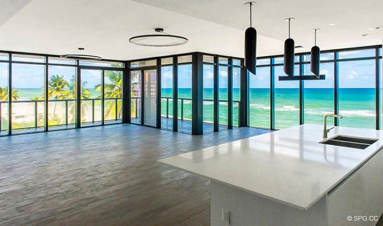 Great Room in Residence 4B at Sage Beach, Luxury Oceanfront Condominiums in Hollywood, Florida 33019