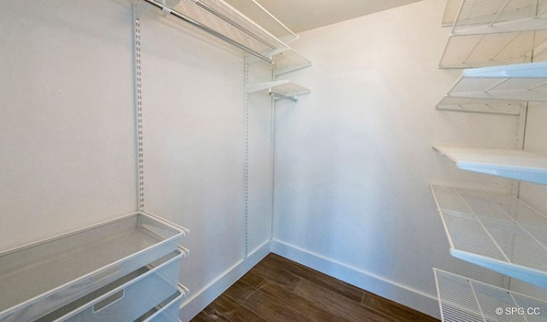 Walk-In Closet in Residence 4B at Sage Beach, Luxury Oceanfront Condominiums in Hollywood, Florida 33019
