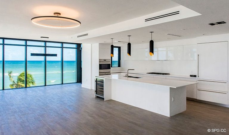 Gourmet Kitchen in Residence 4B at Sage Beach, Luxury Oceanfront Condominiums in Hollywood, Florida 33019