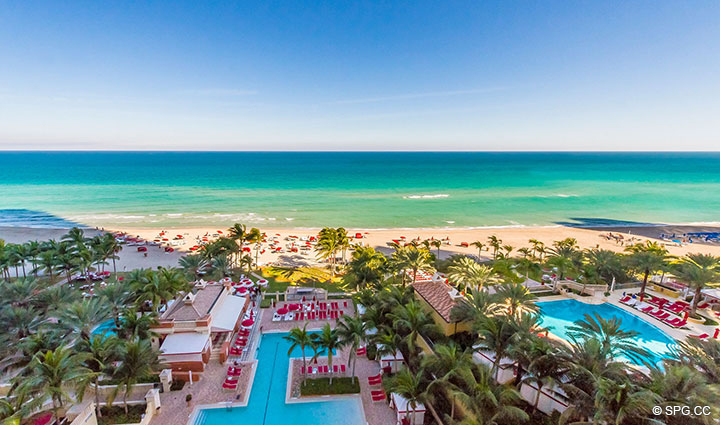 Gorgeous Beachfront Views from Residence 1106 at Acqualina, Luxury Oceanfront Condominiums in Sunny Isles Beach, Florida 33160